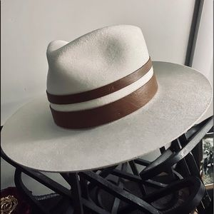 [nwt] JANESSA LEONE 🎩 FRANKIE Wool Fedora Hat